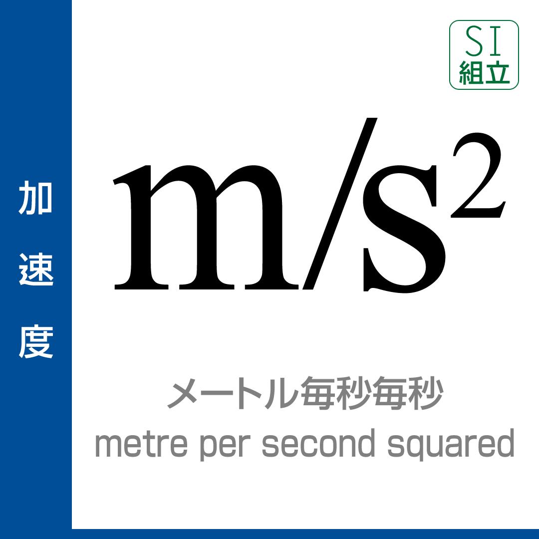 メートル毎秒毎秒|単位プラス|...